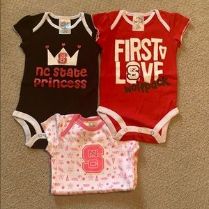 Other - 3 - NWT N.C. State NCSU onesies 3-6M. Girl